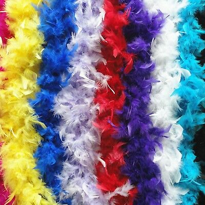 2M Feather Boa Stripe Fluffy Craft Costume Dress Up Wedding Party Flower Decor 2