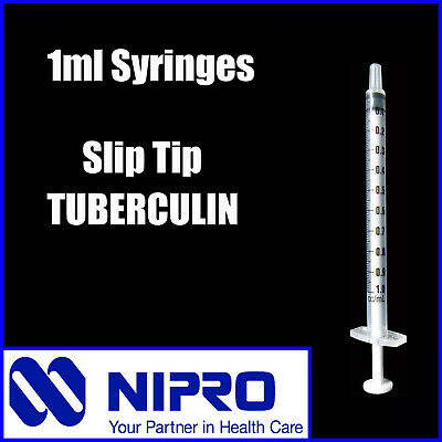 Syringes 1ml 3ml 5ml 10ml 20ml 30ml 50ml Nipro Suit Luer Slip / Lock Needles 5