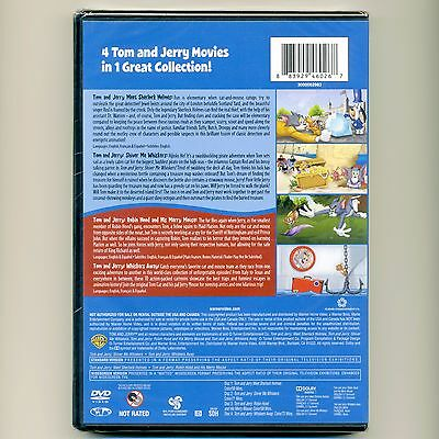 4 Kid Favorites: Tom & Jerry animated movies cartoons, new DVD set, over 4 hours 3