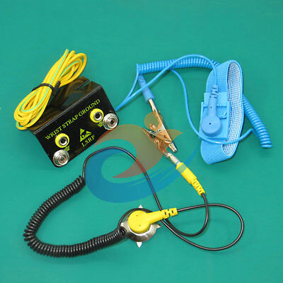 """Anti-Static ESD Grounding Mat Kit With Ground Cord 27.6/"""" x 19.7/"""" Desktop Table"""