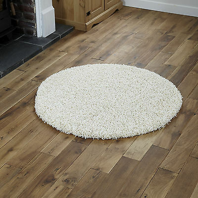 Modern Small Extra X Large Rug - Thick 5Cm Pile Cream Colour Shaggy Rugs 4
