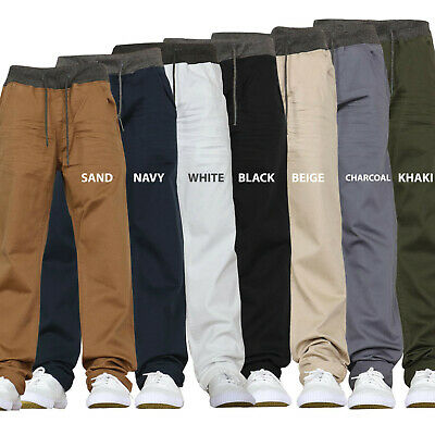 Kids Stretch Jeans Chinos Elasticated Pull on Pants Trousers New 2
