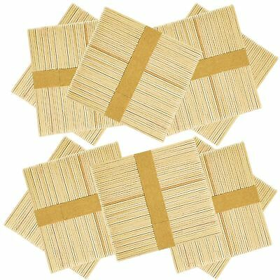 200 100 Wooden Craft Sticks Paddle Pop Popsicle Coffee Stirrers Ice Cream Stick 7