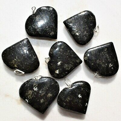 "CHARGED Starburst Flash Nuummite Crystal HEART Perfect Pendant™ + 20"" Chain 3"