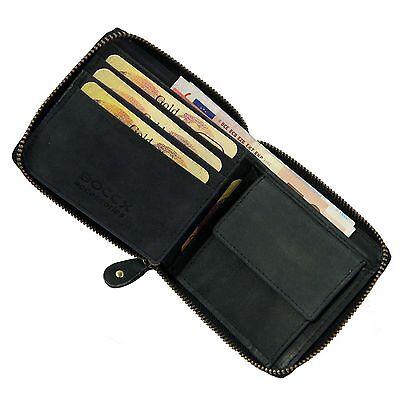 63e6a0fcb46e0 BOCCX Herrenbörse Reißverschluss Geldbörse Leder Geldbeutel Portemonnaie  40021z Herren-Accessoires