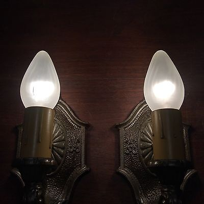 Matched Pair Of Sconces Beautiful Pull chain Sconces Great!!! 4