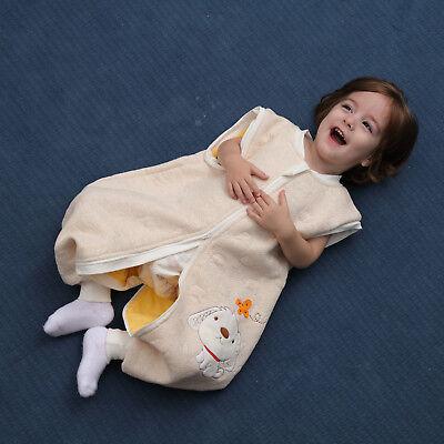 Baby Toddler Kids 100% Cotton Wearable Organic Blanket Sleeping Bag Winter Wrap 4