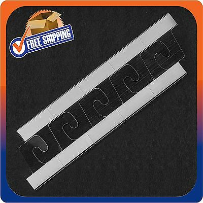 1000 Self Adhesive Clear Plastic Hook Hang Tab Tags Pegbord Slatwall Hanger 14Oz