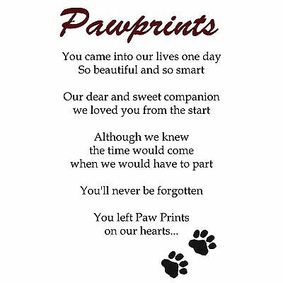 Pet Dog Photo Memorial Slate Plaque - Paw Prints + YOUR Picture- LARGE 19x29cm 2