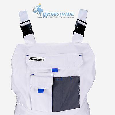 Arbeitshose Latzhose Arbeitslatzhose Malerhose Weiß Grau Hellblau Gr. 46 - 62