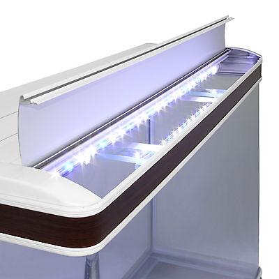 Fish Tank Aquarium Complete Set Up Tropical Marine 4ft 300 Litre White Cabinet 8