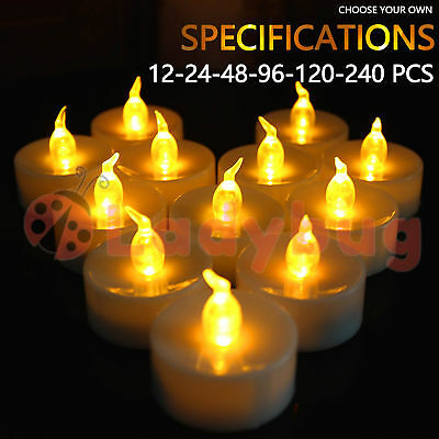 Led Tea Light Candles Tealight Flameless Wedding Battery Included White 6