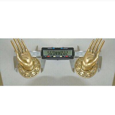 "2 small Polished Handle Hook hand solid brass door  knob hook 2.1/4 ""buddha B 5"
