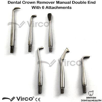 New Manual Dental Crown Bridges Remover Kit Double End Dentist Lab Equipment CE 3