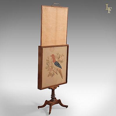 Antique Tapestry Display Stand, Regency Mahogany Needlepoint English circa 1830 3
