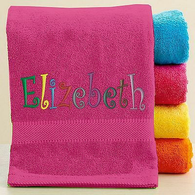 Personalized Bath Towel with FREE Custom Embroidery Name
