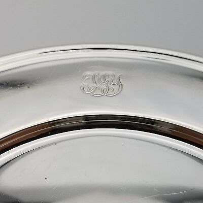 Tiffany & Co. Makers Sterling Silver ~6.5' In* Cookie Saucer Bread Charger Plate 2