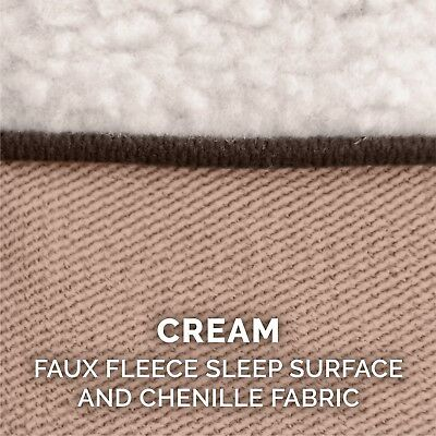 FurHaven Pet Faux Fleece & Chenille Soft Woven Sofa Dog Bed 4