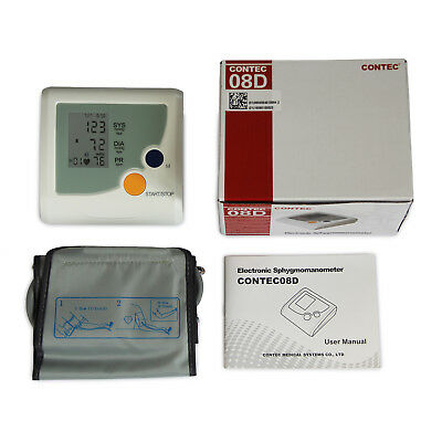 Digital Blood Pressure Monitor Electronic Sphgmomanometer NIBP Heart Beat Meter 2