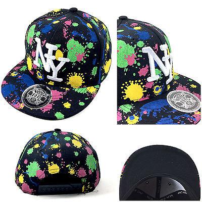8530dba6ff29 1 von 3 NEU NY NEON SPLASH Snapback Cap Kinder Basecap Kappe Baseball Mütze  NY TOXIC