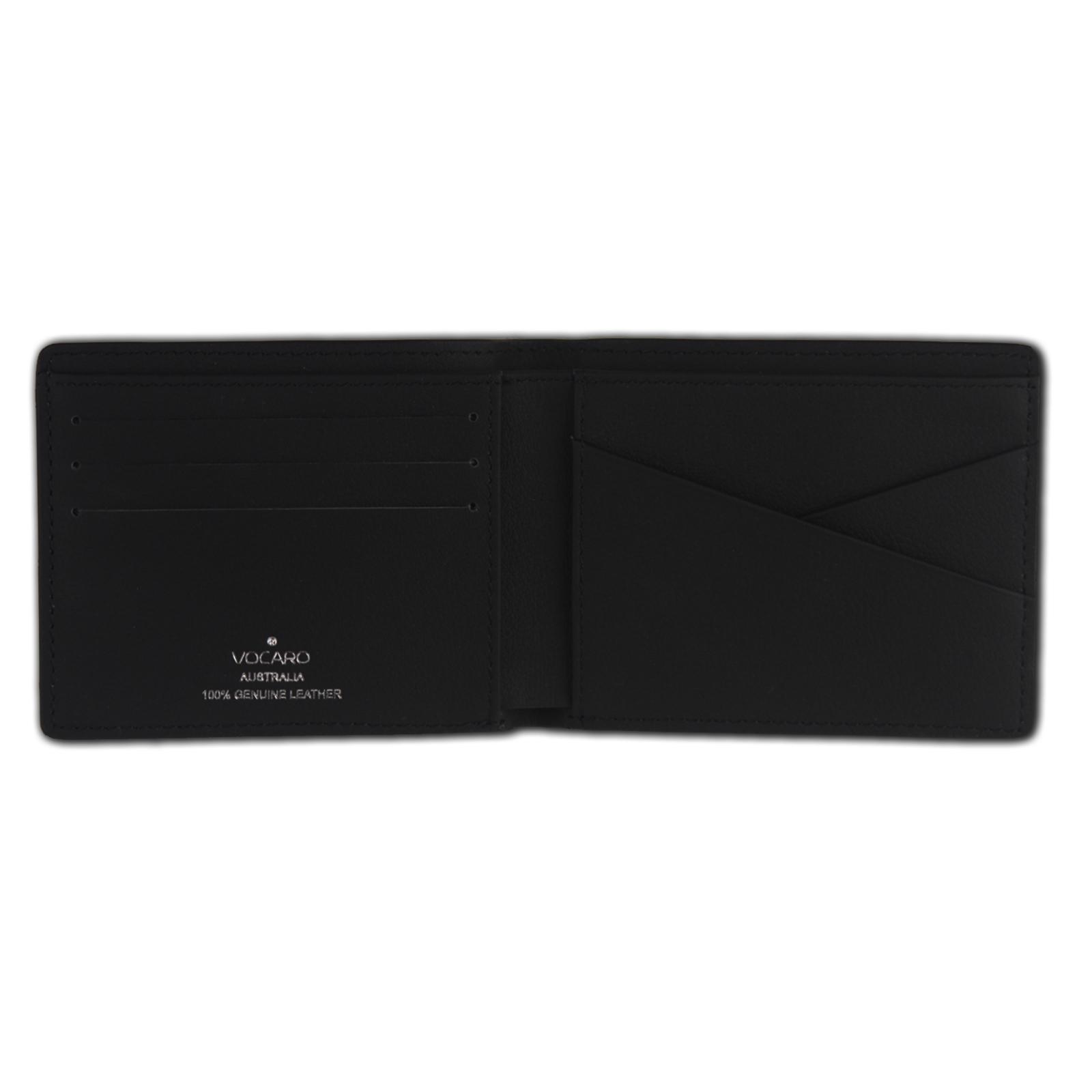 Mens Wallet Rfid Black Genuine Carbon Fiber Leather  Slim Mens Bifold 2