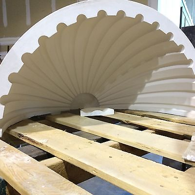 2 Fluted NICHE CAP SHELLS (Handmade) Absolute Spectacular! Achitectural Plaster 6