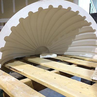 2 Fluted NICHE CAP SHELLS (Handmade) Absolute Spectacular! Achitectural Plaster 6