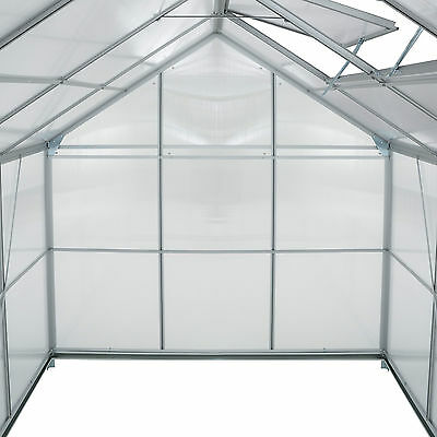 Invernadero de jardín con ventana policarbonato casero plantas cultivos 7,6m³