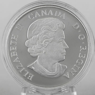 Canada 2014 Lake Ontario $20 1 oz Pure Silver Enameled Proof Coin Great Lakes #2 9