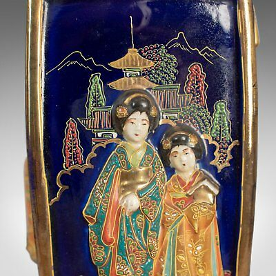 Antique Pair of Japanese Vases, Ceramic Pots, 20th Century 5