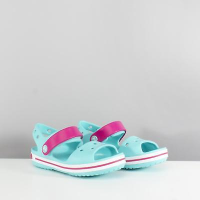 Crocs 12856 CROCBAND SANDAL Girls Touch Fasten Open Toe Sandals Candy Pink//Pool
