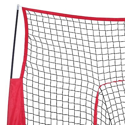 7x7Ft Bow Frame Baseball Softball Teeball Practice Batting Training Net W/Bag 9