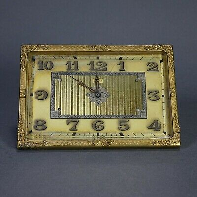 Rare Doxa Watch Company Swiss 8 Day Folding Travel Desk Clock Works 7