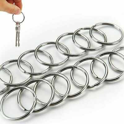 20Pcs Steel Keyrings Split Key Rings 25mm Hoop Ring Nickel Plated Steel Loop Y1 4