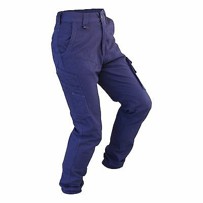 Cargo Pants Work Trousers BigBEE Elastic Band Ankle Cuff Cotton Tapered UPF 50+ 3