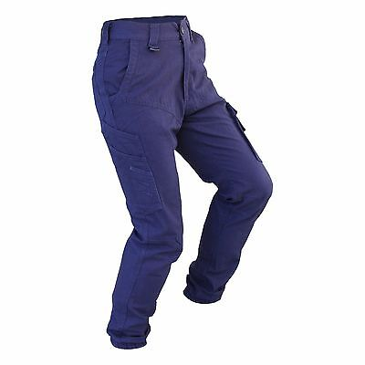 Mens Cargo Pants Trousers Elastic Banded ankle cuff, Cotton Work Wear Tapered 3