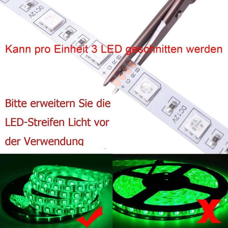 5m-30m LED Stripe RGB Wasserdicht Leiste Streifen 5050 Band Leuchte Lichterkette 5