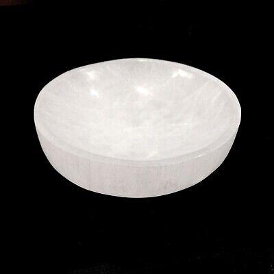 "XL Selenite ""Charging"" Bowl White Crystal Stone Reiki CHARGED Healing Cleansing 6"