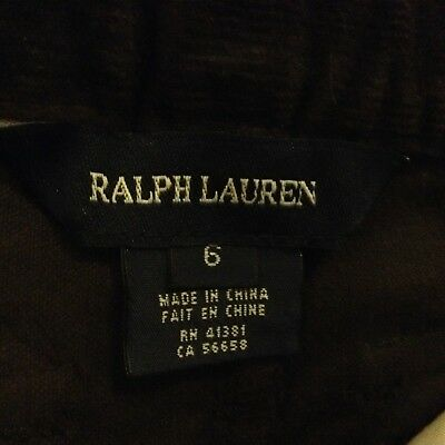 Ralph Lauren trousers for 6 years old boy-dark brown-new 3