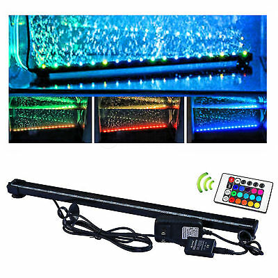 LED Submersible Air Bubble Light Underwater Aquarium Fish Tank Bar with Remote 3