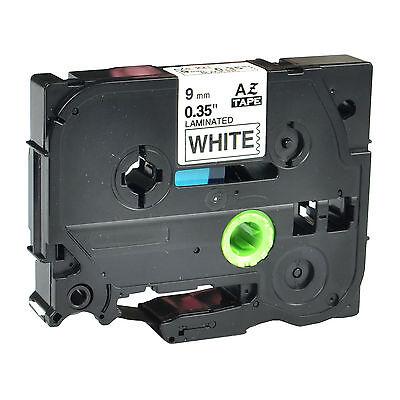 10PK Black on White TZE221 TZ221 Label Tape For Brother Ptouch Label Printer 9mm