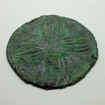 Bronze Mirror Cross / Flower  100-300AD. Scythian Celtic 3