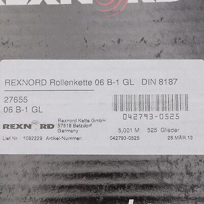 Rexnord 06 B-1 GL Rollenkette Länge 5,001 M