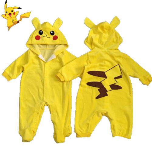 e3944b3305 Bambino Ragazzi BATMAN Pikachu Body bebè tutina tuta intera con cappuccio 8  8 di 9 ...