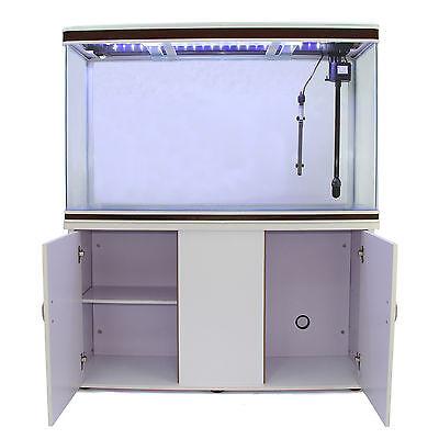 Fish Tank Aquarium White Cabinet Complete Set Up Tropical Marine 4ft 300 Litre 6