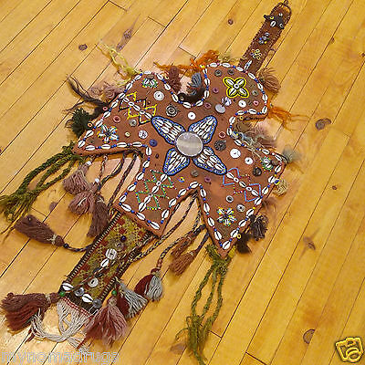 Rare 1'4''x3'3'' Antique 1900-1930s Tribal Ceremonial Wall Hanging Turkey 2