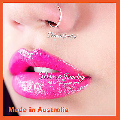 6-8-10mm Sterling Silver Small Hoop Earring Sleeper Ear Nose Lip Piercing Ring 7