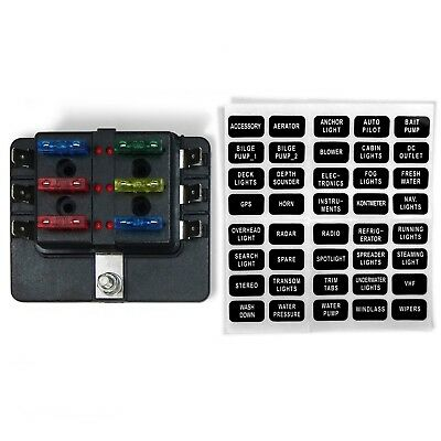 6 WAY 12V Blade Fuse Box Distribution Block with LED Indicators Hot Race Car Fuse Box on