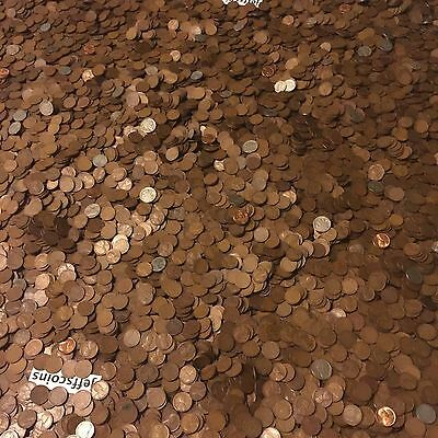 ✯1Lb Pound Unsearched Wheat Cents Lincoln Pennies✯Estate Sale Coins Lot✯1909-58✯ 4