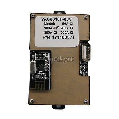 Battery Monitor Meter Wireless DC 120V 100A VOLT AMP AH Remaining Capacity LCD&& 6